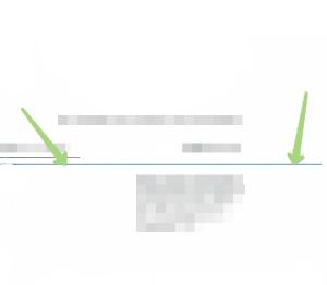На компьютер выводится отсканированный документ со следами цветных или черно-белых линий.
