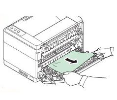 Застряла бумага в принтере, жует бумагу.
